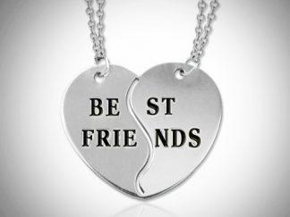 Nanvehalskæde med titlen bedste venner