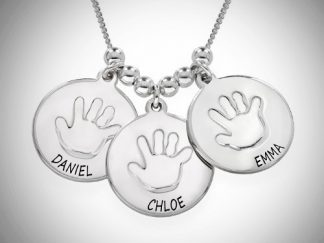 Babyhåndsaftryk, sølvkæde, sølvsmykke, sterlingsølv