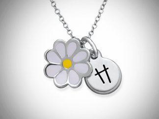 Halskæde, blomst, vedhæng