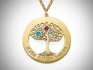 Fødselssten, livstræ, indgravering
