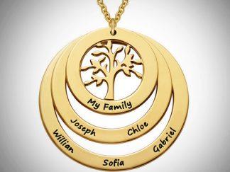 3-Disc halskæde med Livets Træ i guld 46831fb0b00c3