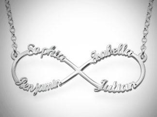 Infinity-halskæde med fire navne